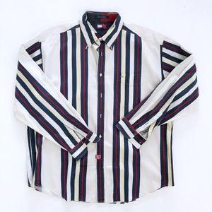 TOMMY HILIGER Men's Striped Shirt XL